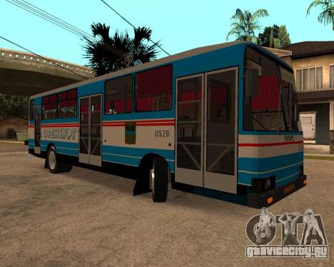 Autosan H10-11B full Orenburg stickers для GTA San Andreas вид сзади