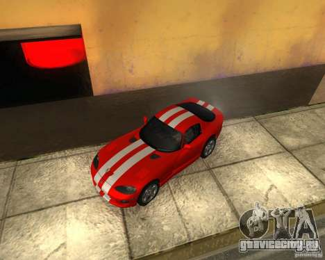 Dodge Viper GTS Coupe для GTA San Andreas вид сзади
