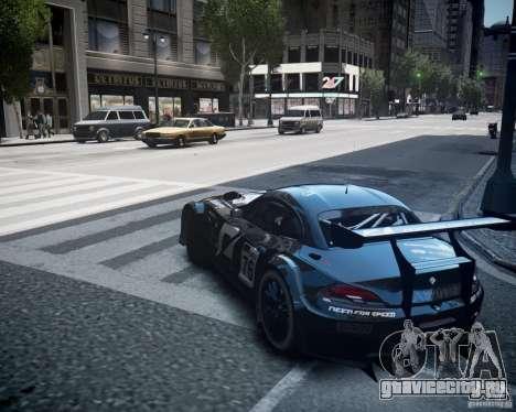 BMW Z4 GT3 2010 для GTA 4 вид изнутри