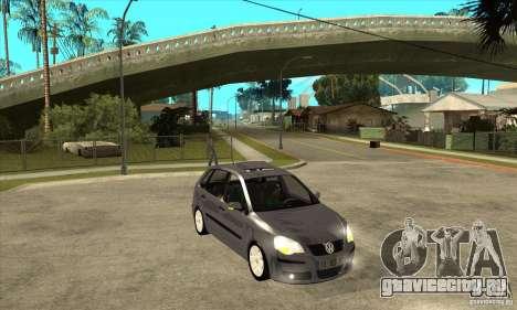 Volkswagen Polo 2008 для GTA San Andreas вид сзади