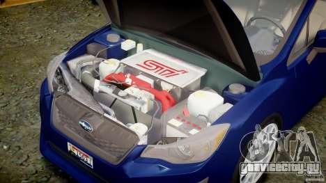 Subaru Impreza Sedan 2012 для GTA 4 вид справа