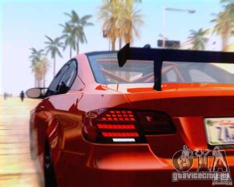 BMW M3 GT-S 2011 для GTA San Andreas вид сзади