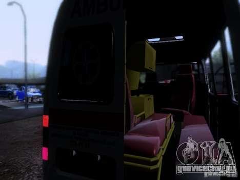 ГАЗель 2705 Скорая помощь для GTA San Andreas вид изнутри
