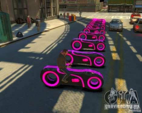 Мотоцикл из Трон (розовый неон) для GTA 4 вид сзади слева