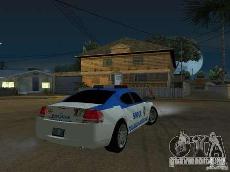 Dodge Charger Police для GTA San Andreas вид справа