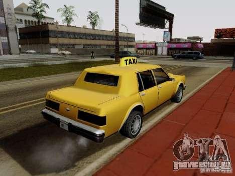 Greenwood Taxi для GTA San Andreas вид слева