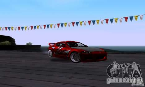 Mazda RX-8 Speed для GTA San Andreas вид сзади