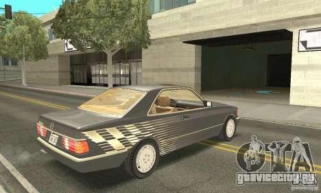 Mercedes-Benz W126 560SEC для GTA San Andreas вид сбоку