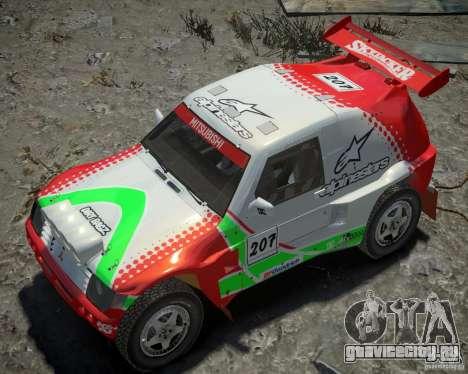 Mitsubishi Pajero Proto Dakar EK86 Винил 2 для GTA 4 вид снизу
