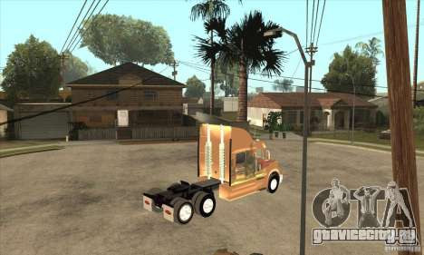 Peterbilt 387 скин 3 для GTA San Andreas вид сзади