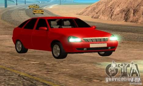 Лада Приора хэтчбэк для GTA San Andreas вид сбоку