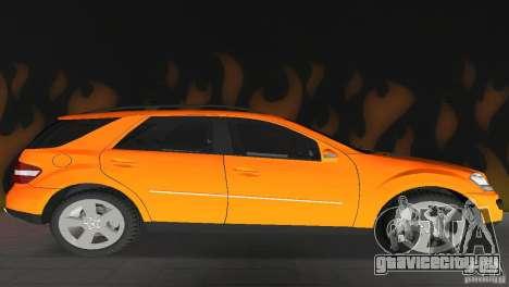 Mercedes-Benz ML 500 для GTA Vice City вид сзади