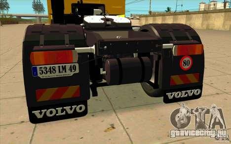 Volvo FH16 Globetrotter DHL для GTA San Andreas вид справа