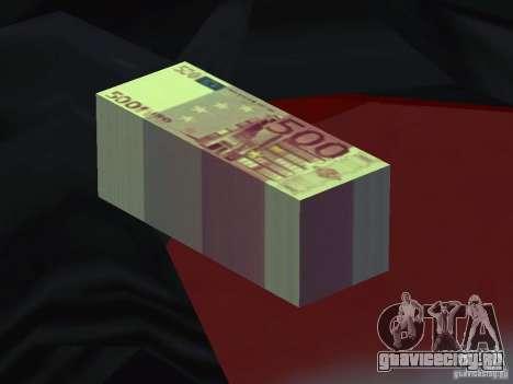 Euro money mod v 1.5 500 euros для GTA San Andreas