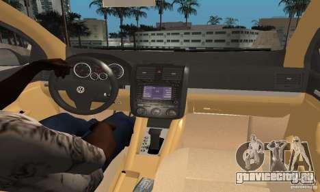 Volkswagen Golf 5 TDI для GTA San Andreas вид сзади слева