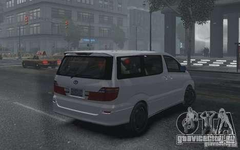 Toyota Alphard v2.0 для GTA 4 вид сзади