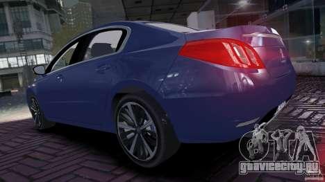Peugeot 508 Final для GTA 4 вид справа