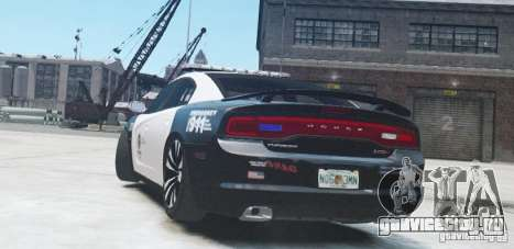 Dodge Charger 2011 Police для GTA 4 вид справа