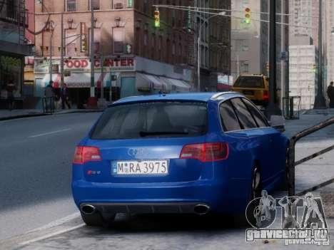 Audi RS6 Avant для GTA 4 вид сзади слева