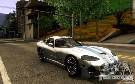 Dodge Viper GTS Coupe TT Black Revel для GTA San Andreas вид сзади