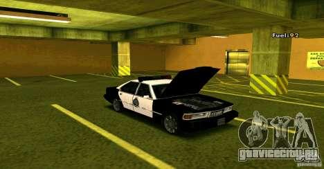 Sentinel Police LV для GTA San Andreas вид справа