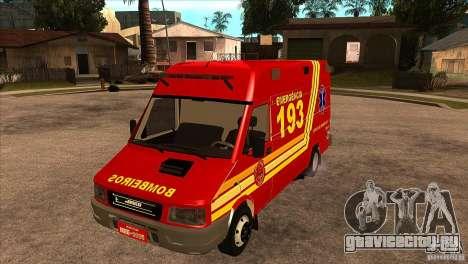 Iveco Daily UR Bombeiros SP для GTA San Andreas