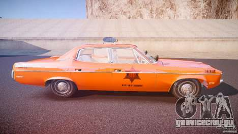 AMC Matador Hazzard County Sheriff [ELS] для GTA 4 вид сбоку