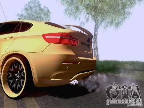 BMW X6M Hamann для GTA San Andreas вид сзади слева