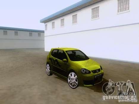 Volkswagen Golf V GTI для GTA San Andreas вид слева