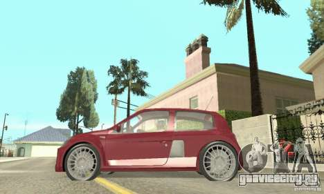 Renault Clio Phase 2 для GTA San Andreas вид сзади слева