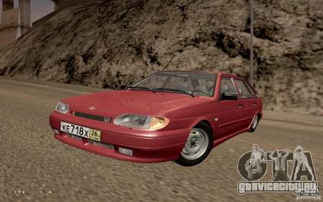 ВАЗ 2114 Quality для GTA San Andreas вид сзади слева