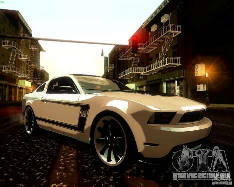 Ford Mustang Boss 302 2011 для GTA San Andreas вид сбоку