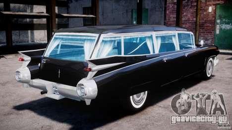 Cadillac Miller-Meteor Hearse 1959 для GTA 4 вид изнутри