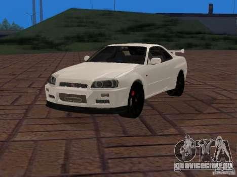 Nissan Skyline GT-R R34 Tunable для GTA San Andreas