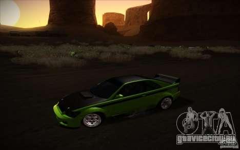 GTA IV Sultan RS для GTA San Andreas вид сзади слева