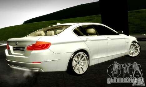 BMW 550i F10 для GTA San Andreas вид сзади слева