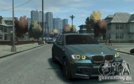 BMW X6-M 2010 для GTA 4 вид сзади