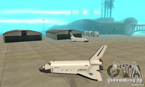 Space Shuttle Discovery для GTA San Andreas вид слева