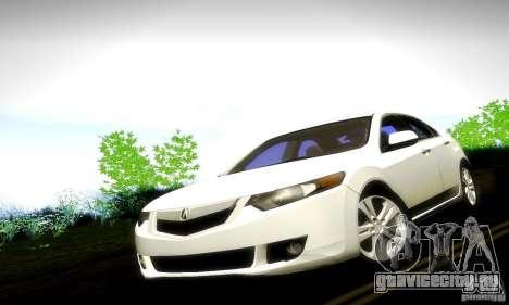 Acura TSX V6 для GTA San Andreas вид справа