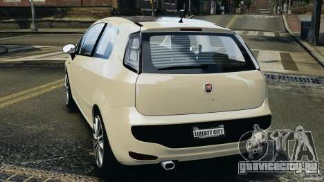 Fiat Punto Evo Sport 2012 v1.0 [RIV] для GTA 4 вид сзади слева
