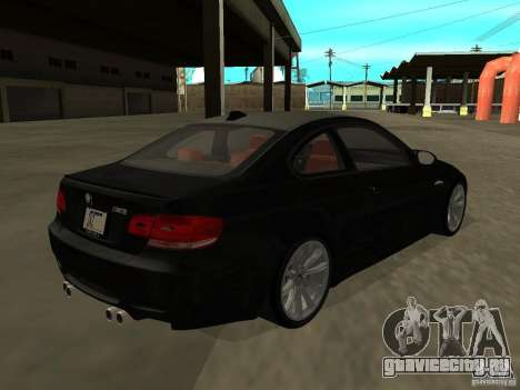 BMW M3 E92 Tunable для GTA San Andreas вид слева