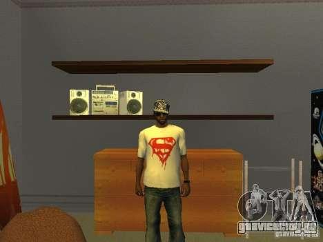 Футболка супермена для GTA San Andreas