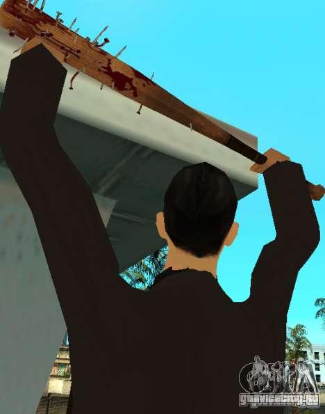 Кровавая бита с гвоздями HD для GTA San Andreas второй скриншот