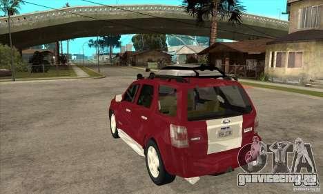 Ford Escape 2009 для GTA San Andreas вид сзади слева