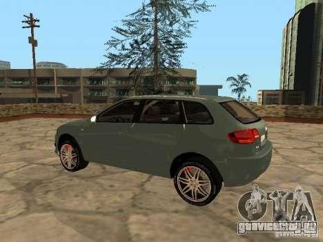 Audi S3 Sportback 2007 для GTA San Andreas вид сзади слева