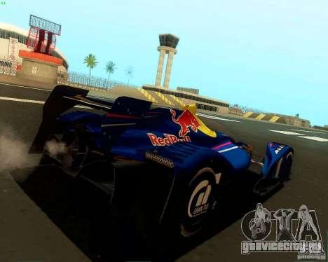X2010 Red Bull для GTA San Andreas вид сзади слева