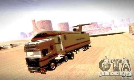Scania R620 МЧС России для GTA San Andreas вид снизу