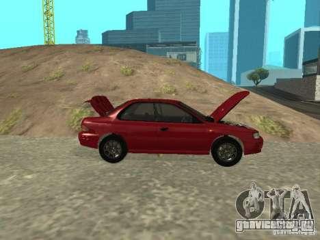 Subaru Impreza WRX STI 1995 для GTA San Andreas вид изнутри