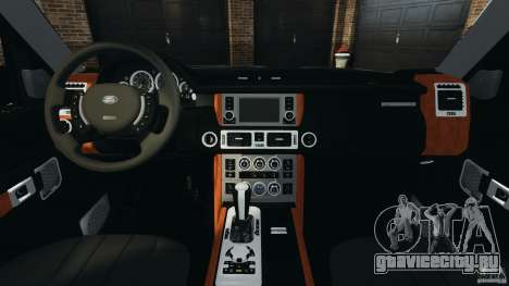 Range Rover Supercharged 2008 для GTA 4 вид сзади