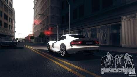 Dodge SRT Viper GTS 2012 V1.0 для GTA San Andreas вид сзади слева